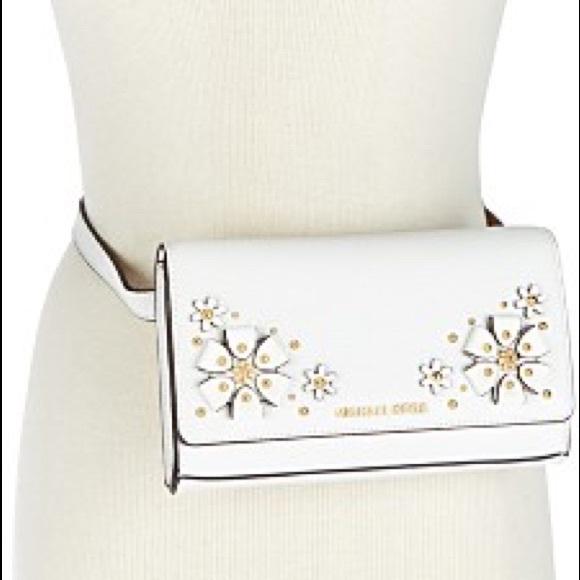 4a3640c0bed5 MICHAEL Michael Kors Bags   Michael Kors 3d Flower Garden Fanny Pack ...